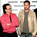 "5'7"" U2 BONO WITH BRAD PITT"