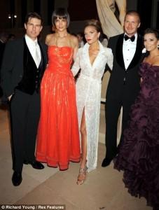 Tom Cruise Katie Holmes Victoria-Beckham Eva Longoria