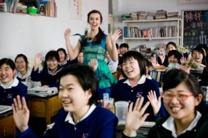 Jillian Rabe in China School