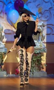 5'1 Lady Gaga Thigh High Boots