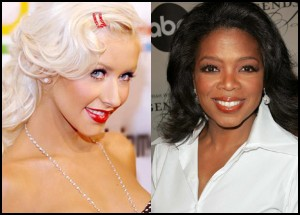 Oprah_Christina Aguilera_Radio City Musci Hall_BellaPetite.com