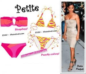 5'0 _Jada Pinkett_petite celebrity_2010 Swimwear Pics_BellaPetite.com