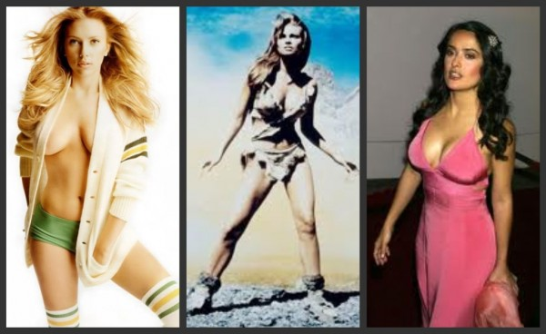 Scarlett-Johansson-Raquel-Welch-Salma-Hayek-petite-celebrities