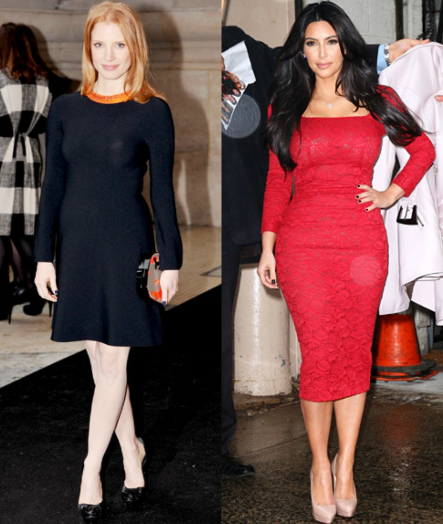 Daily Style Petite Celebrity Jessica Chastain Vs Kim