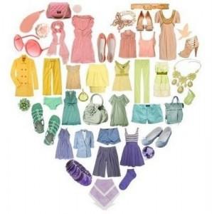 fashion love heart pastels