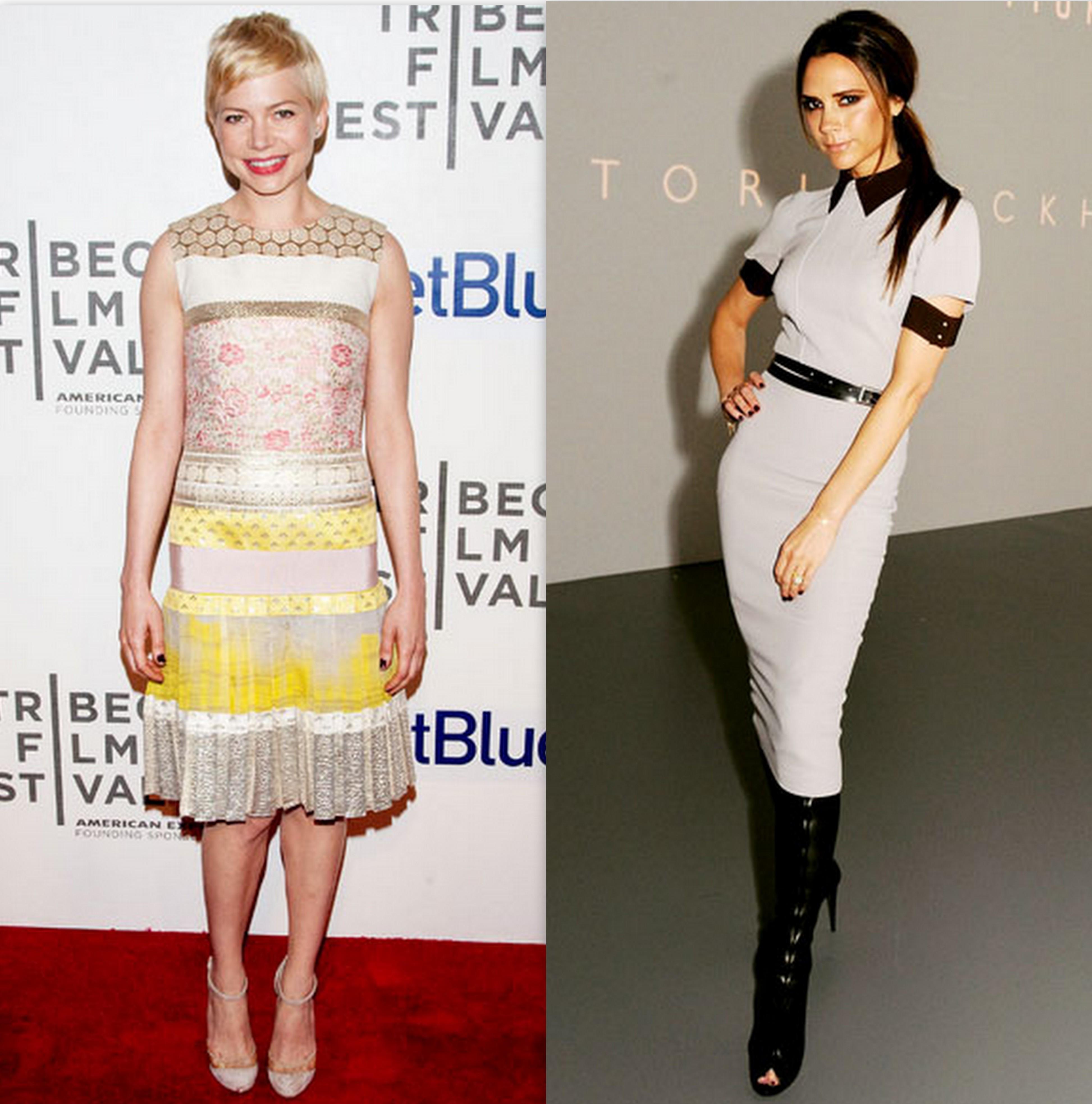 Celebrity Petite Fashion Style On Michelle Williams Victoria Beckham Bella Petite