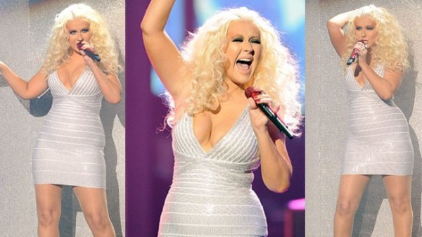 christina-aguilera-skin-tight-dress-bella-petite