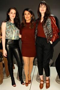 Kristen at Balenciaga Fashion Show, Salma Hayek, Charolette Gainsbourg, via VogueSpain @niarizz