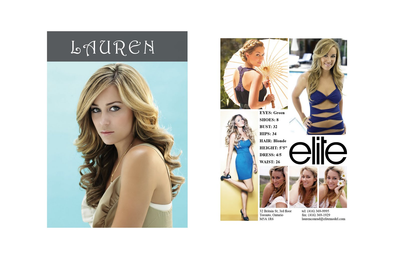 Lauren Conrad Comp Card