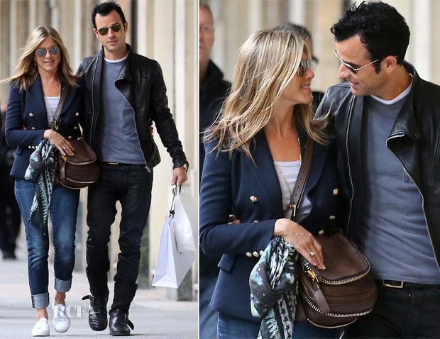 Jennifer-Aniston-Justin-Theroux-Romantic-Stroll-In-Paris