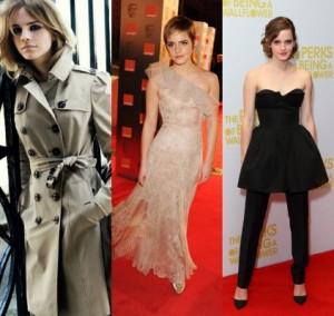 Emma Watson-Burberry-Monique Lhullier-Christian Dior-Bella Petite