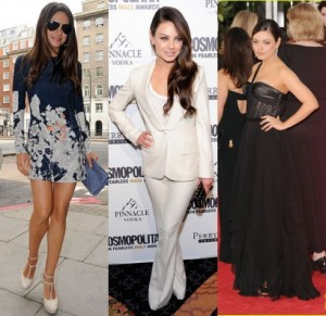 Mila Kunis-Day dress-Pantsuit-Gown-2012