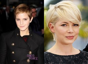 Emma-Watson-Michelle-Williams-Pixie cut