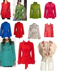 Examples of mid-length coats