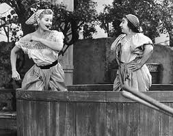 Famous actress-Lucille Ball-Crushing Grapes