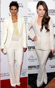 Halle-Berry-Mila-Kunis-monchromatic-suit-bella-petite