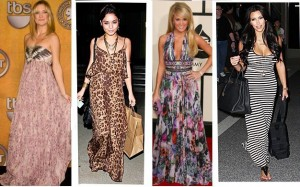 maxi dress kate hudson carrie underwood vanessa hudgens kim kardashian