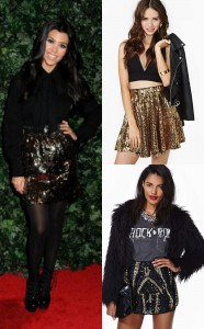 Sequin Mini Skirts