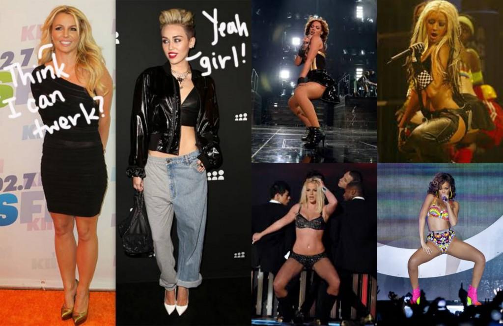 Celebrities-twerking-Beyonce-Aguilera-Spears-Rhianna