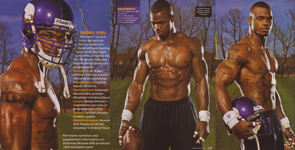 Adrian Peterson_shirtless_ripped_muscle_fitness