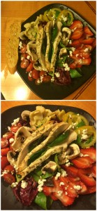 Grilled Chicken Tomato Salad Plate