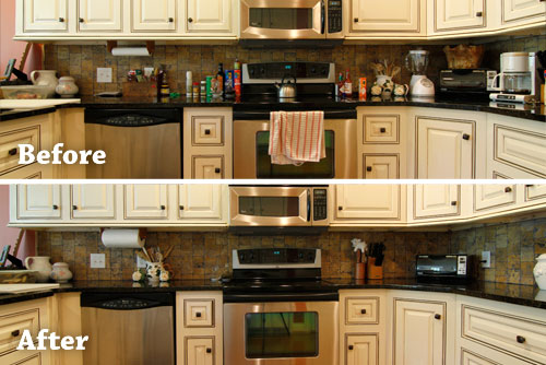 Kitchen Counter Organization Ideas how to organize your kitchen countertops | kitchen idea