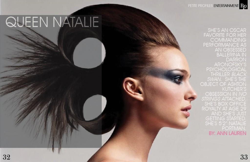 Natalie Portman Bella Petite Magazine Editorial