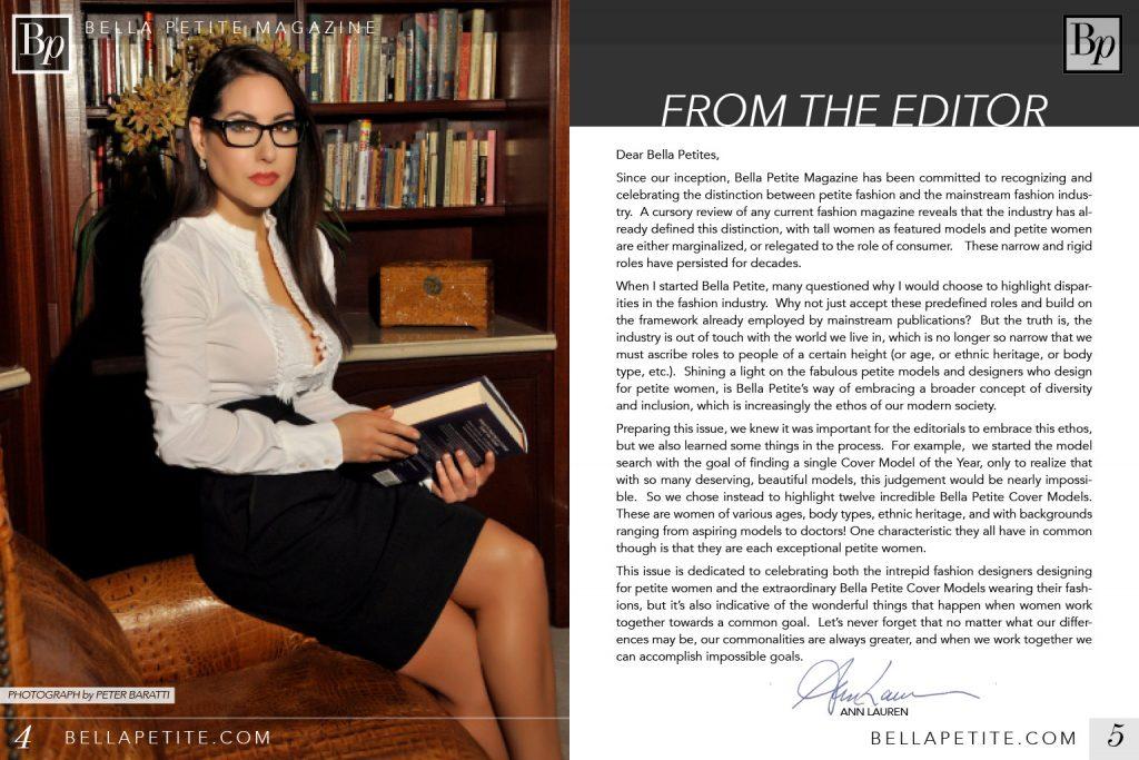 Ann Lauren Bella Petite Magazine Editor-in-Chief