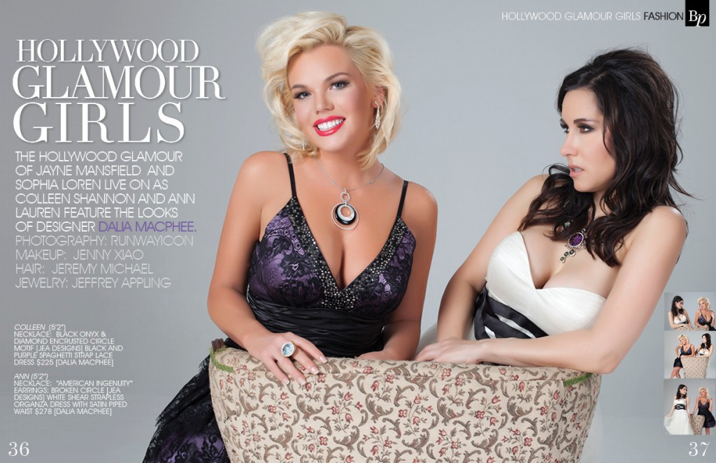 Hollywood Glamour Girls Colleen Shannon and Ann Lauren