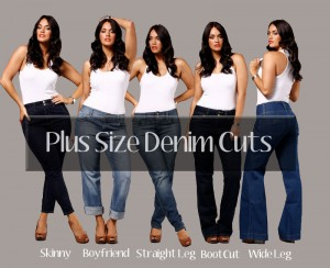 Petite Plus Sized Denim Cuts