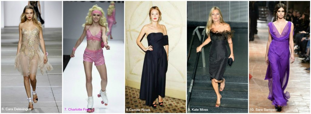 Ann Lauren Short Models Cara Delevingne, Charlotte Free, Camille Rowe, Kate Moss, Sara Sampaio Bella Petite
