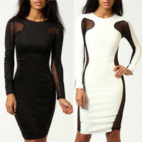 Body con side panel dress