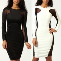 Body con side panel dress
