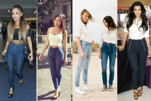 high waisted jeans for petite women