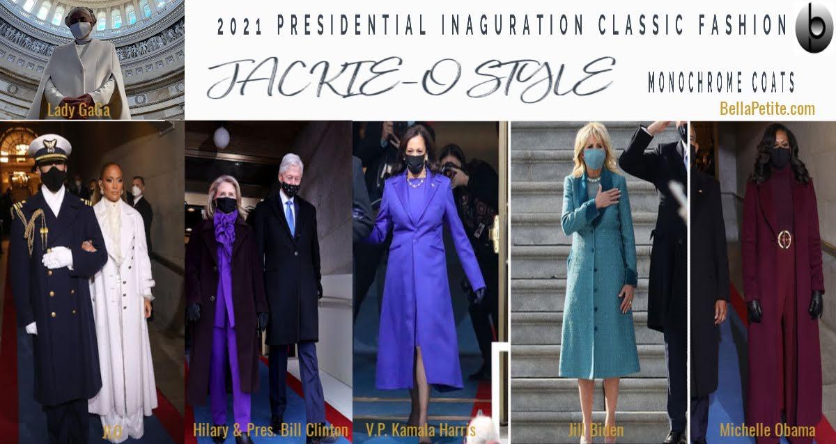 Presidential fashion inauguration ceremony kamala harris jlo lady gaga bella petite