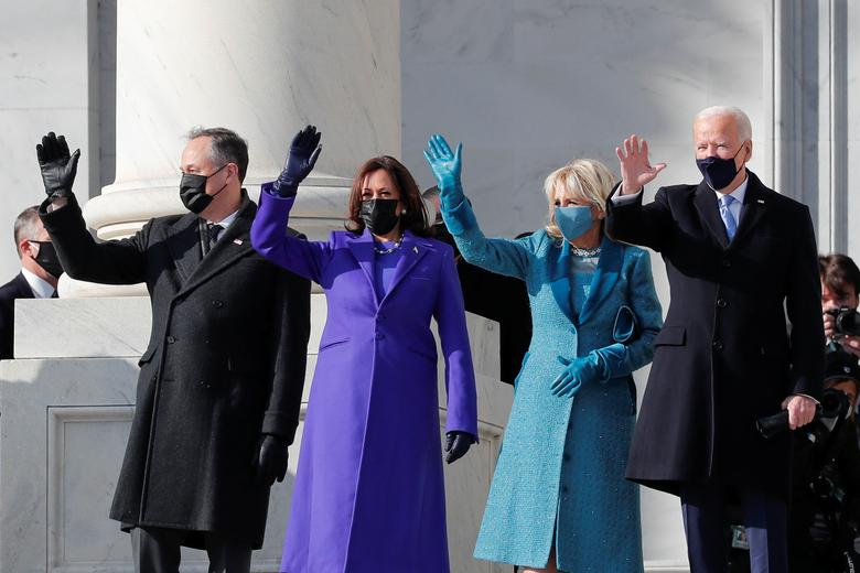 ann lauren joe biden kamala harris presidential ceremony fashion jlo lady gaga