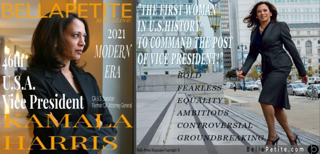 46th US Vice President Kamala Harris  first petite woman Bella Petite Magazine Ann Lauren Bellapetite.com