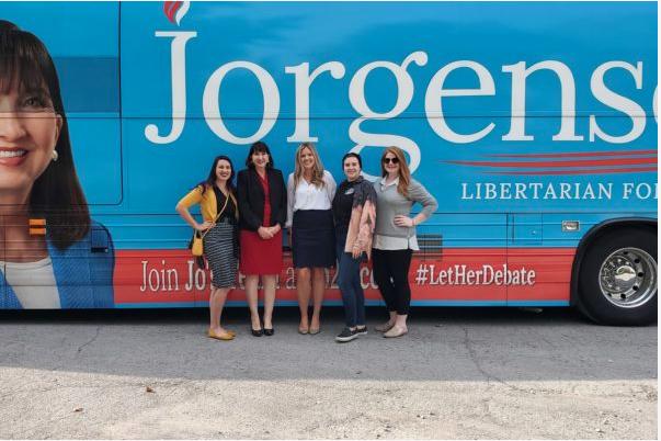 jo jorgensen ann lauren dolls libertarian party election